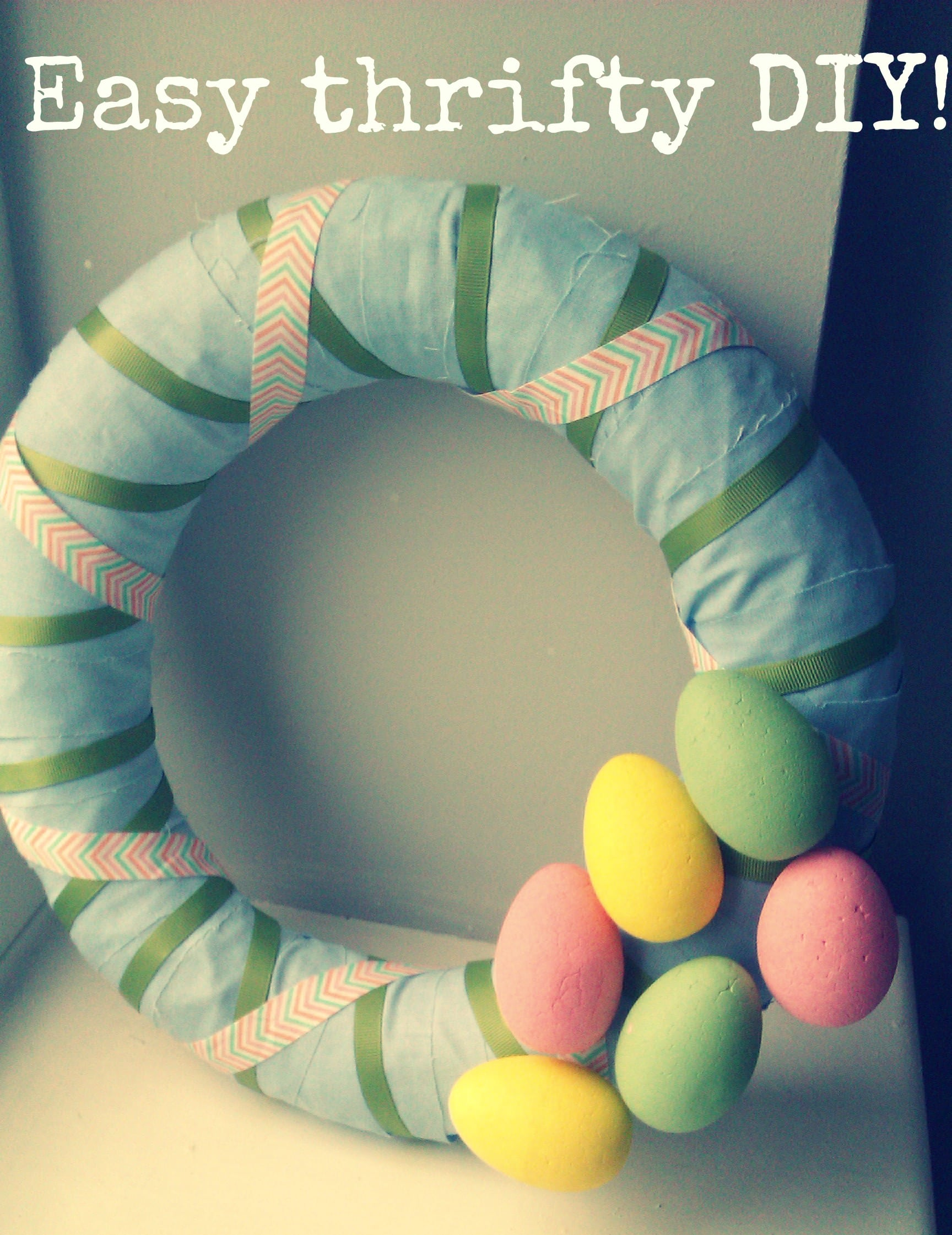 DIY thrifty easter wreath