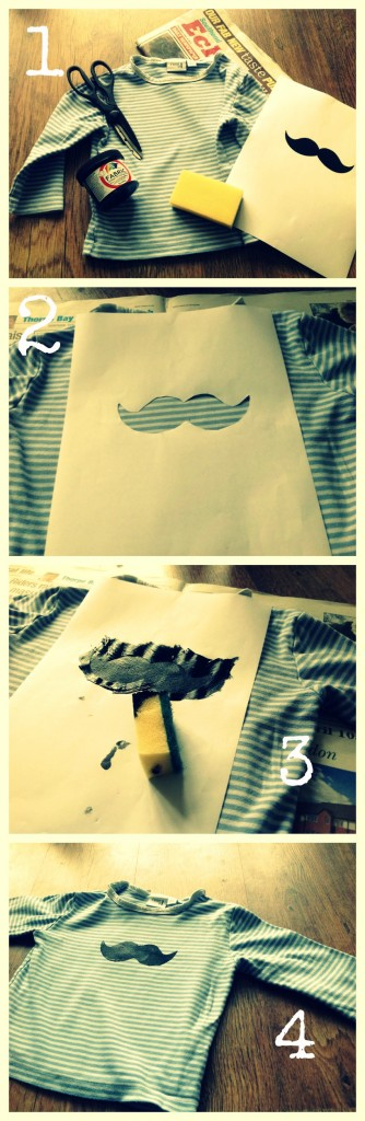 moustache diy kids tshirt