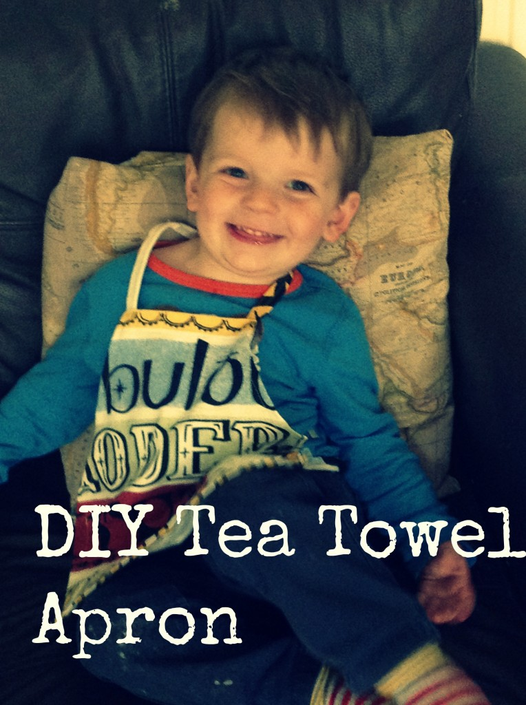 Upcycled tea towel DIY