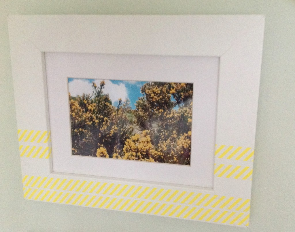ideas for washi tape photo frames