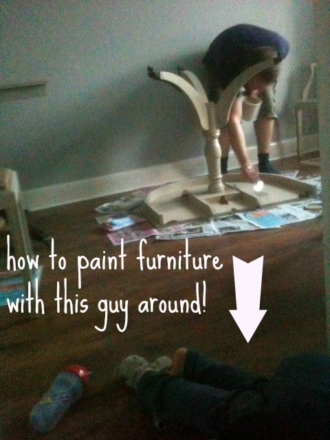 painting furniture quickly