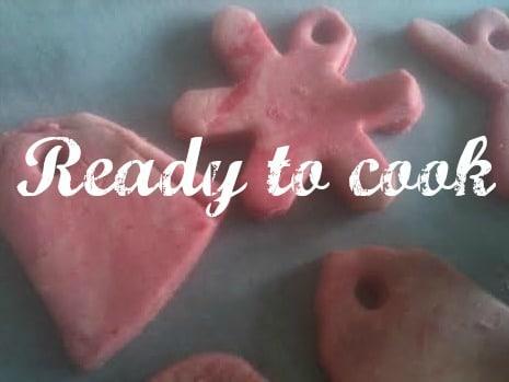 coloured salt dough decorations