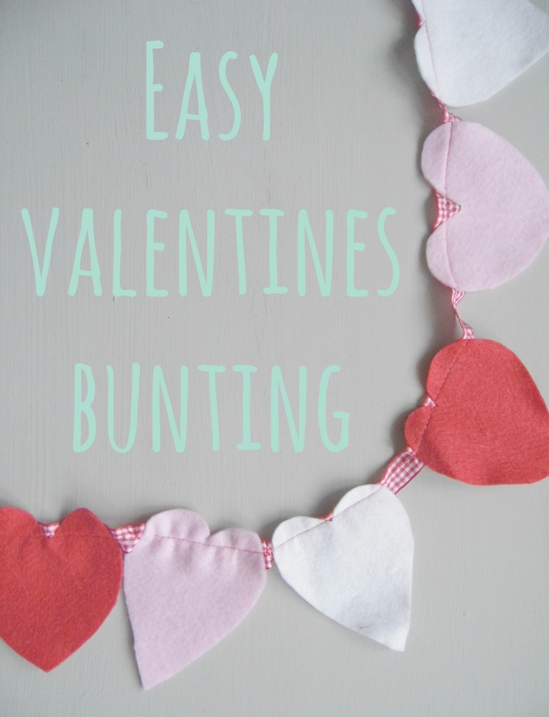 Easy Valentines Bunting