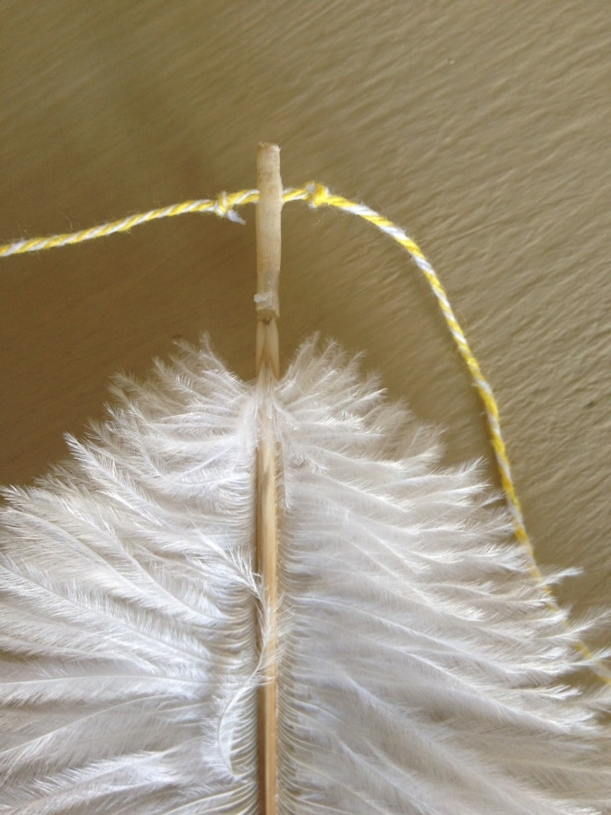 feather garland tutorial