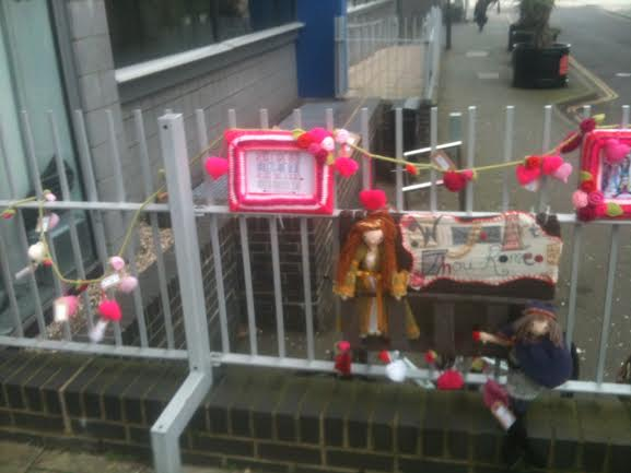 Southend college yarn bomb