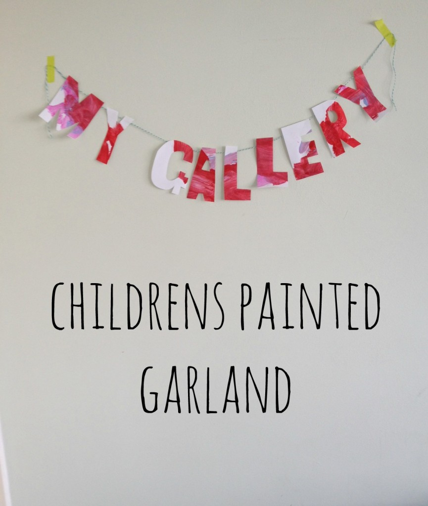 childrens garland diy