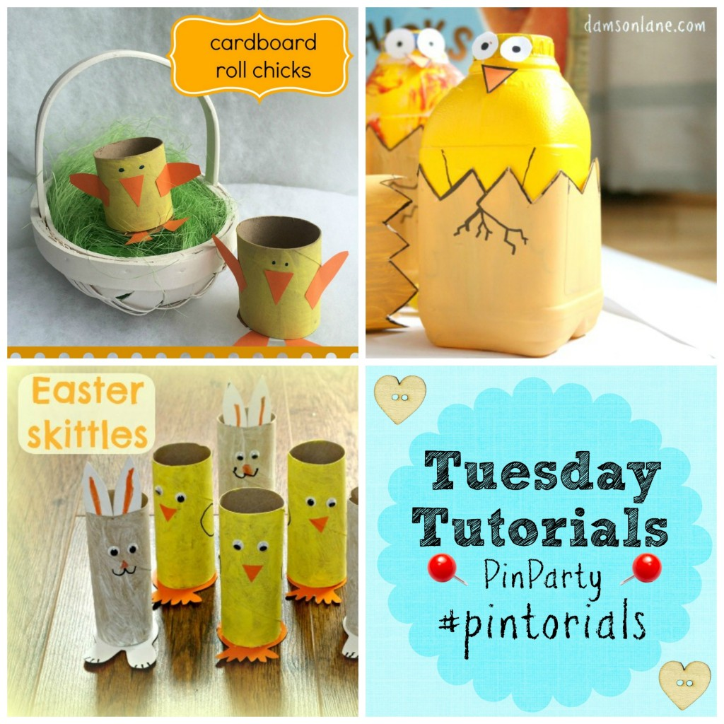 Easter chick craft ideas for kids Tuesday Tutorials Pin It Party Linky