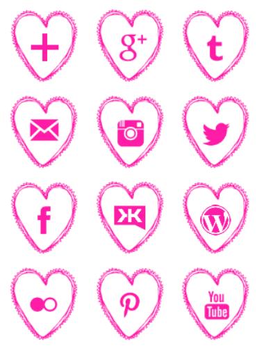 Free-pink-heart-social-media-icons- geek fairy