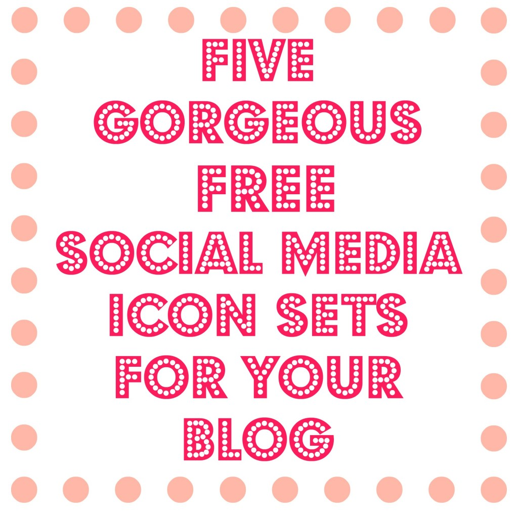 five gorgeous free social media icon sets for your blog