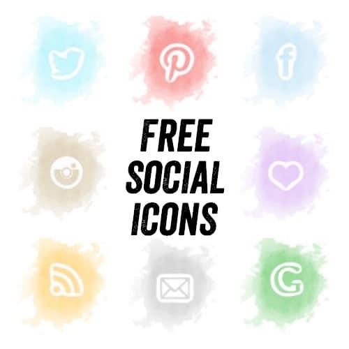 free-watercolour-social-icons
