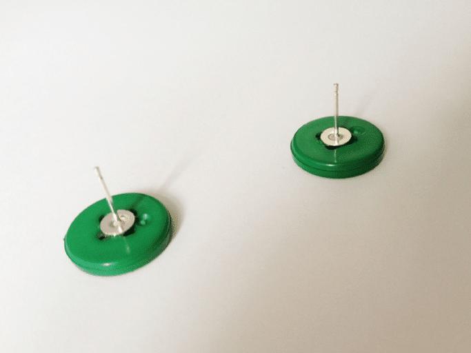 button earring tutorial