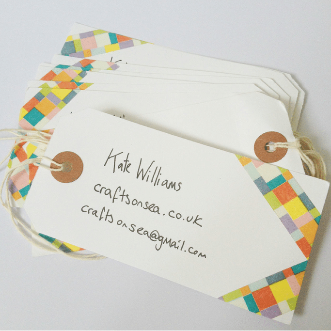 how to make washi tape business cards