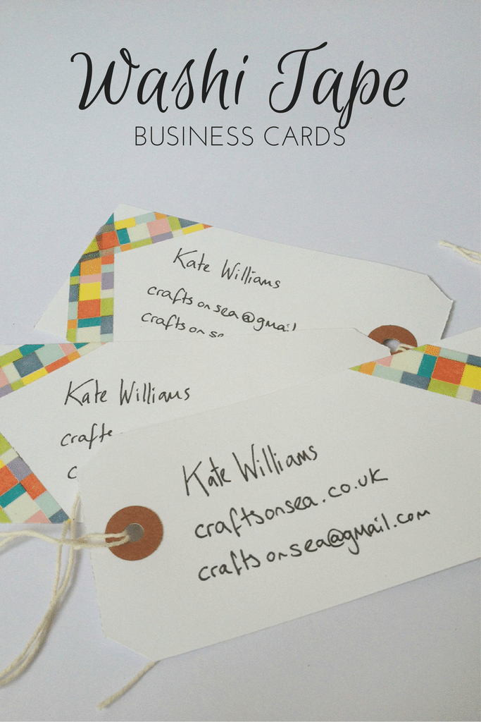How to make washi tape business cards crafts on sea washi tape business cards colourmoves Images