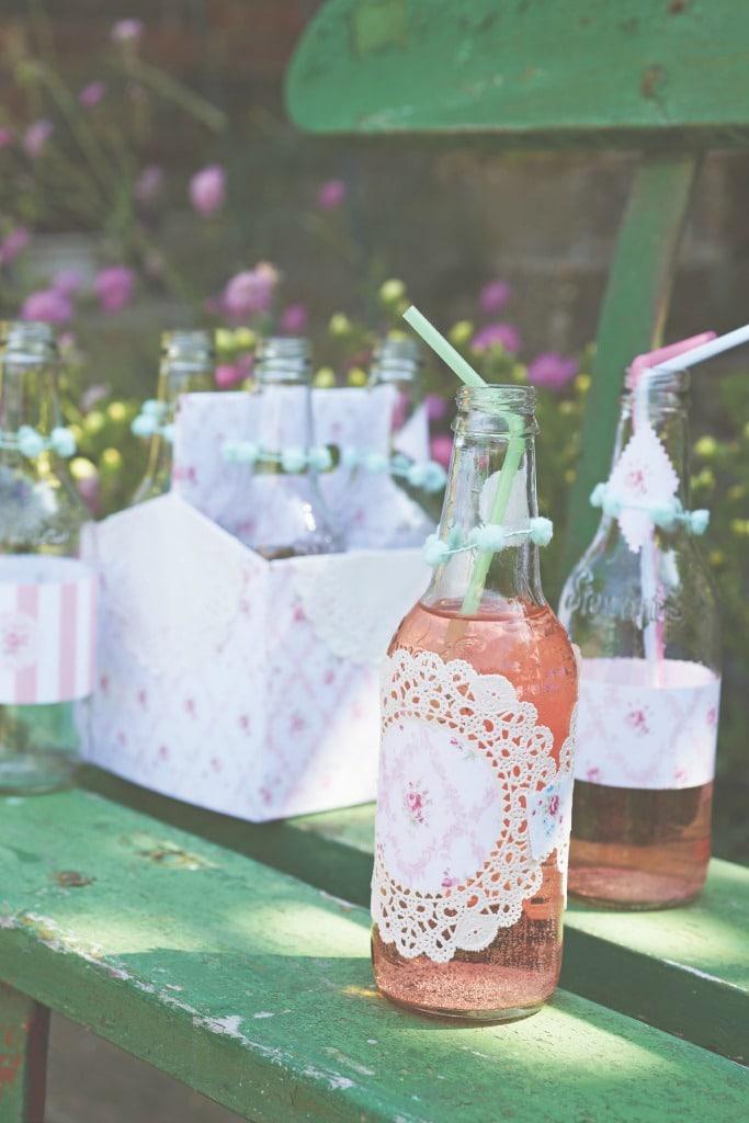 DIY Shabby Chic Vinage Style Bottles