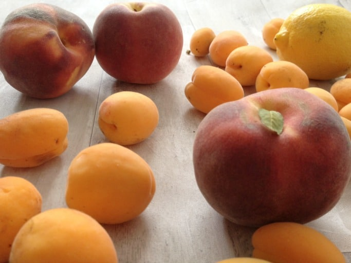 peach and apricot jam ingrediants