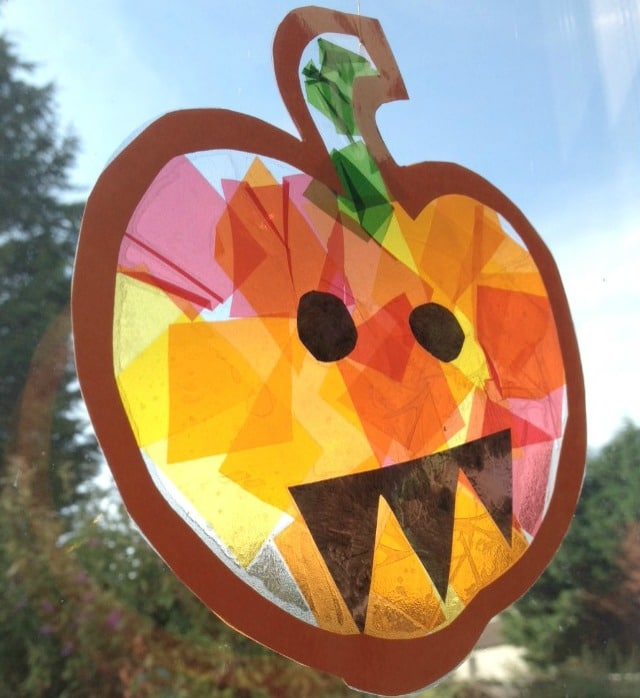 pumpkin crafts for preschool stained glass pumpkin suncatcher crafts on sea 366