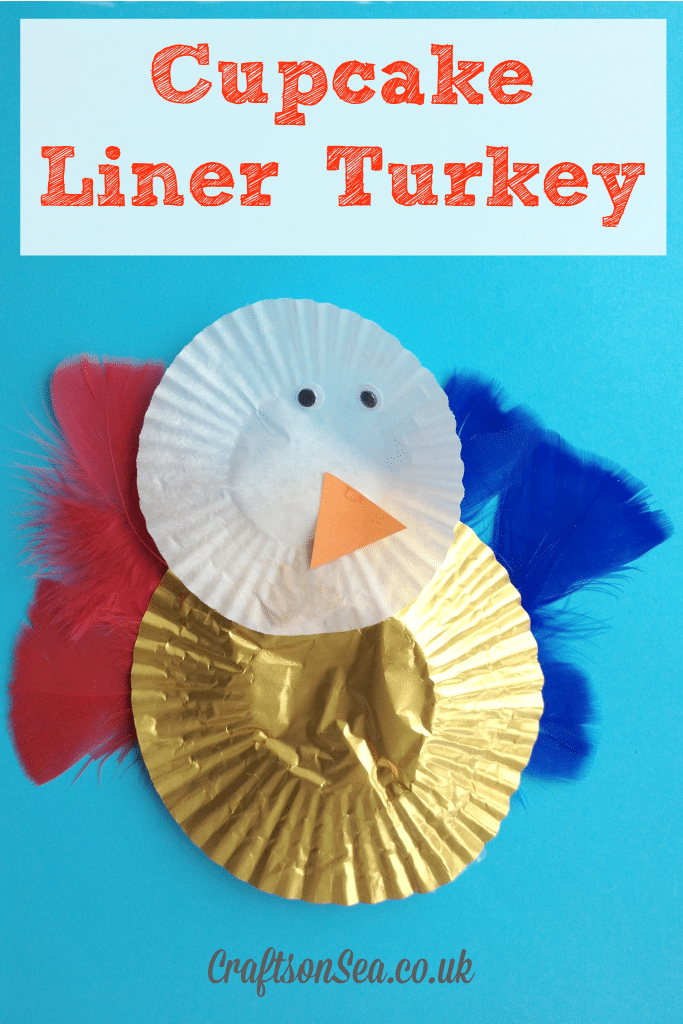 Cupcake Liner Turkey Craft for Kids
