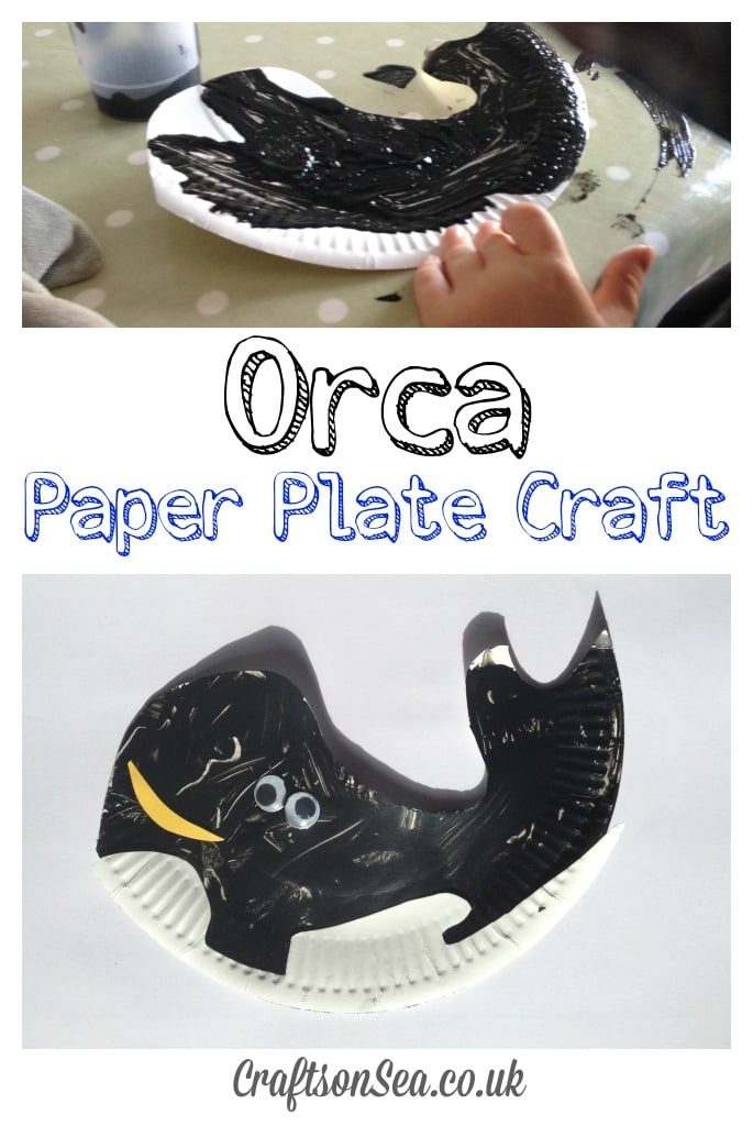 Orca Paper Plate Craft