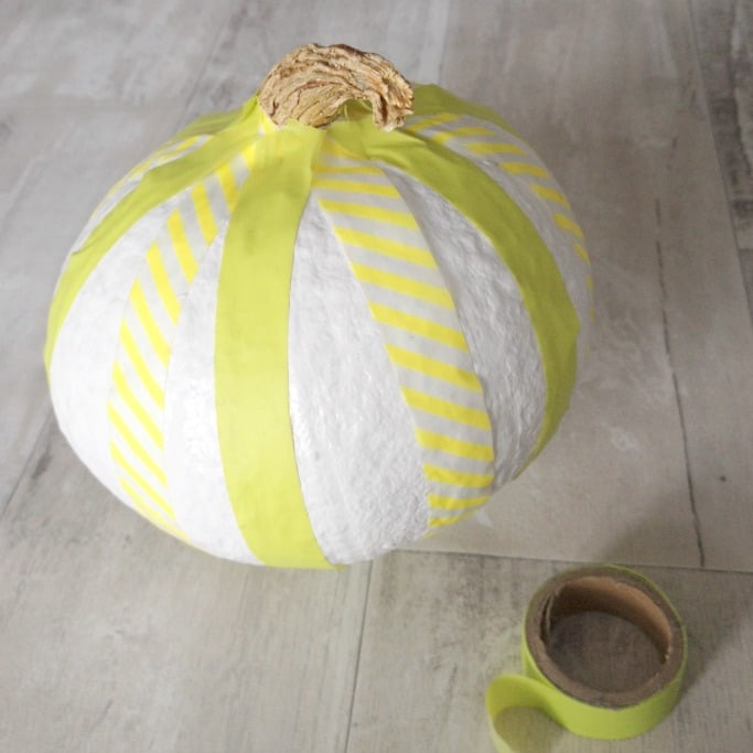 ideas for decorating pumpkins with washi tape