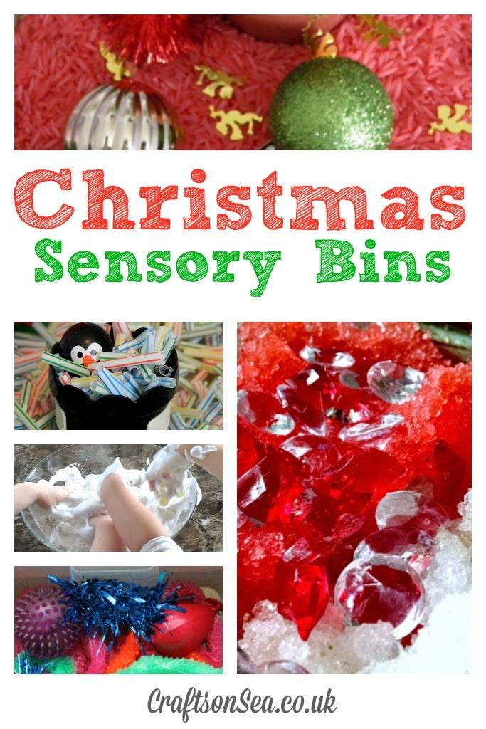 Christmas Sensory Bins