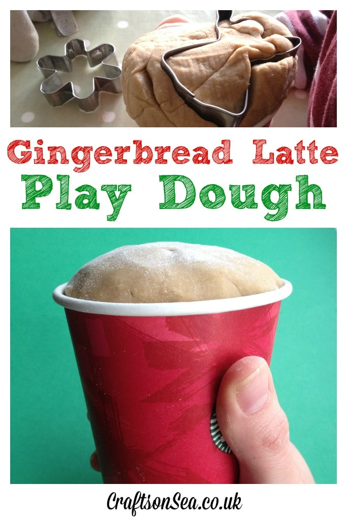 Christmas playdough Gingerbread latte scented