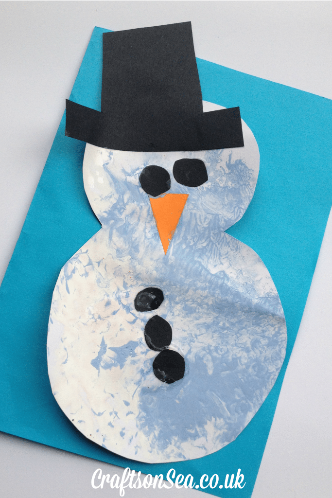 bubble wrap snowman craft for preschoolers
