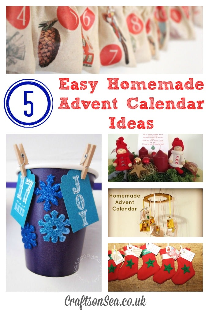 Advent Calendar Ideas Uk : Easy homemade advent calendar ideas crafts on sea
