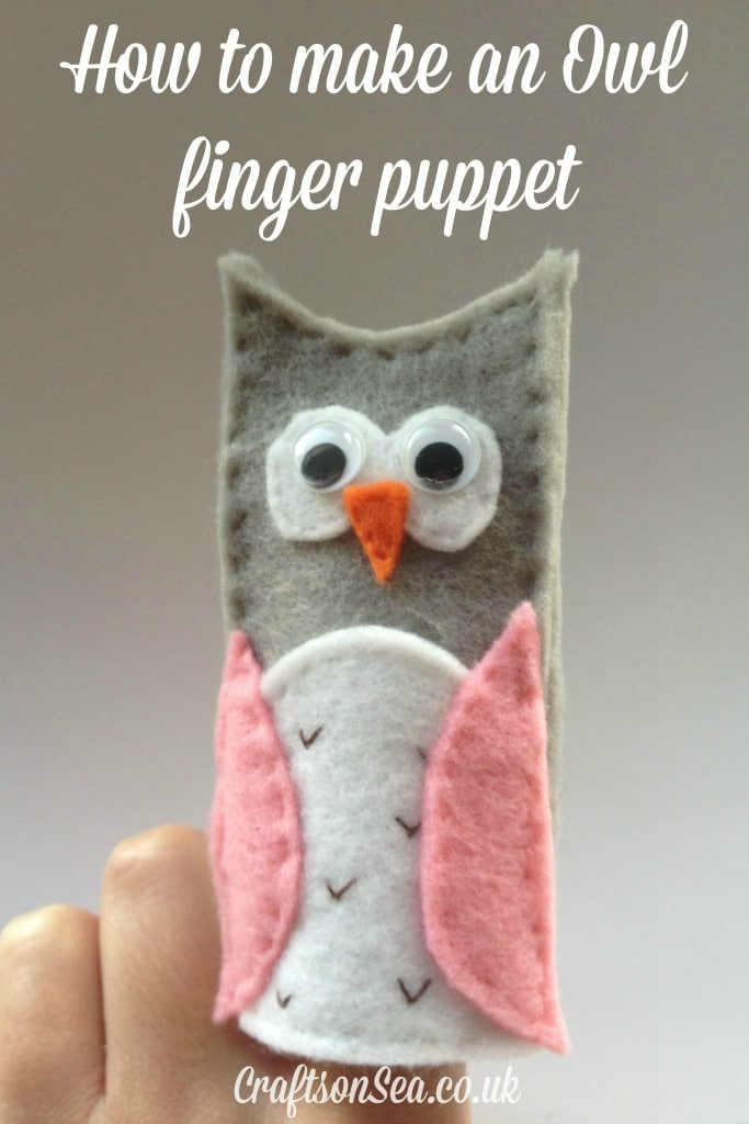 how to make an owl finger puppet
