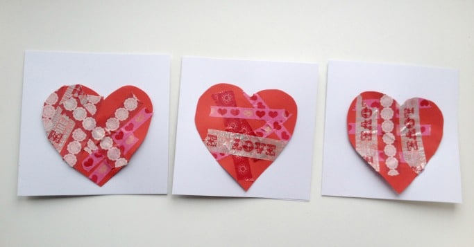 Valentines Day cards for Preschoolers to make