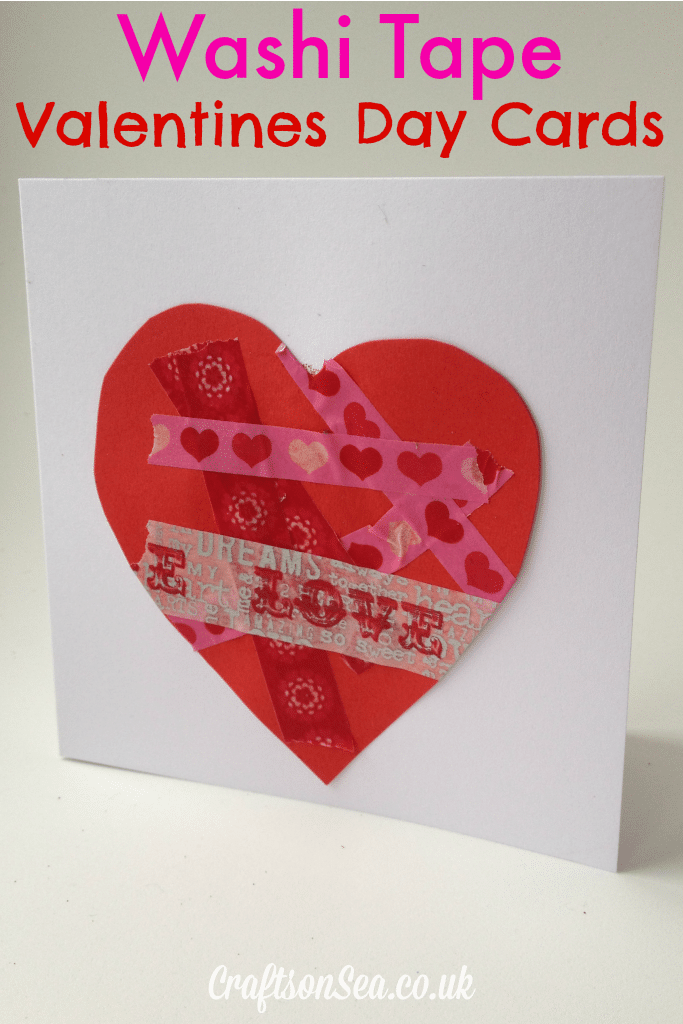 Washi Tape Valentine Cards for Kids