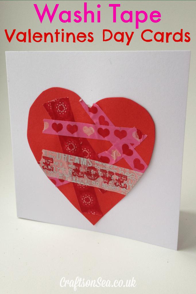 Washi Tape Valentine Cards for Kids