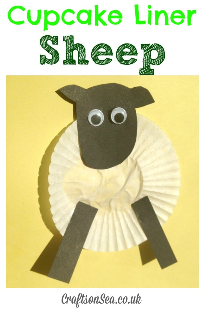 cupcake liner sheep craft