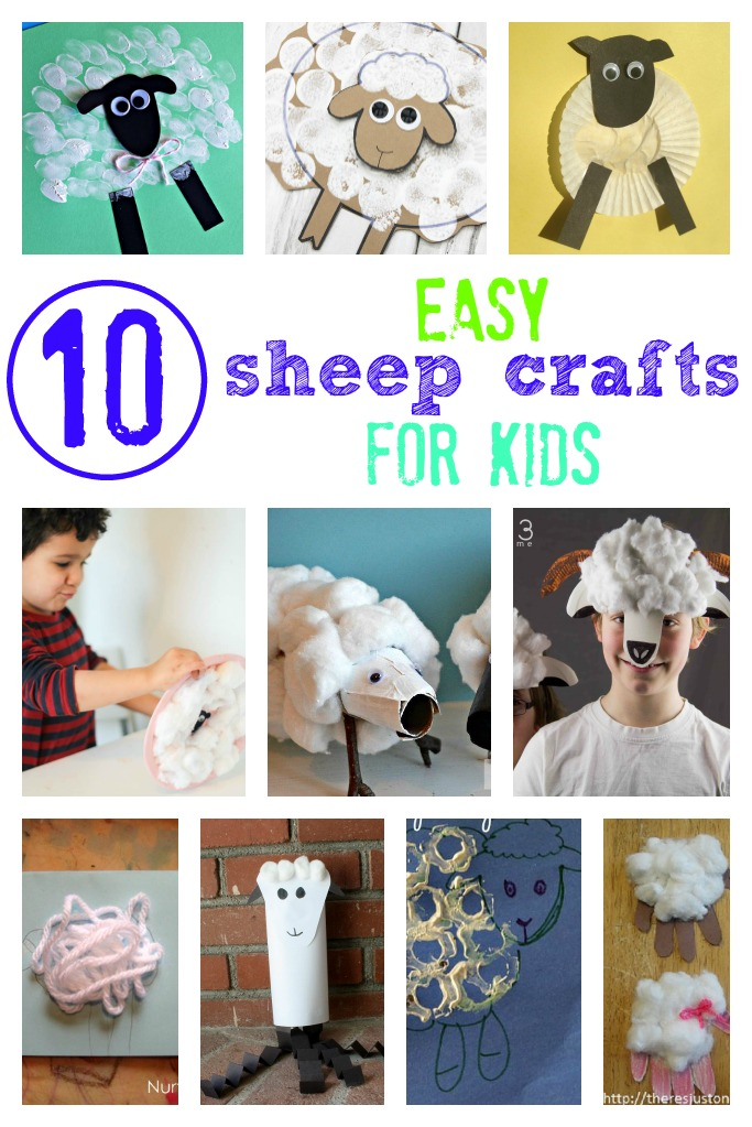 easy sheep crafts for kids