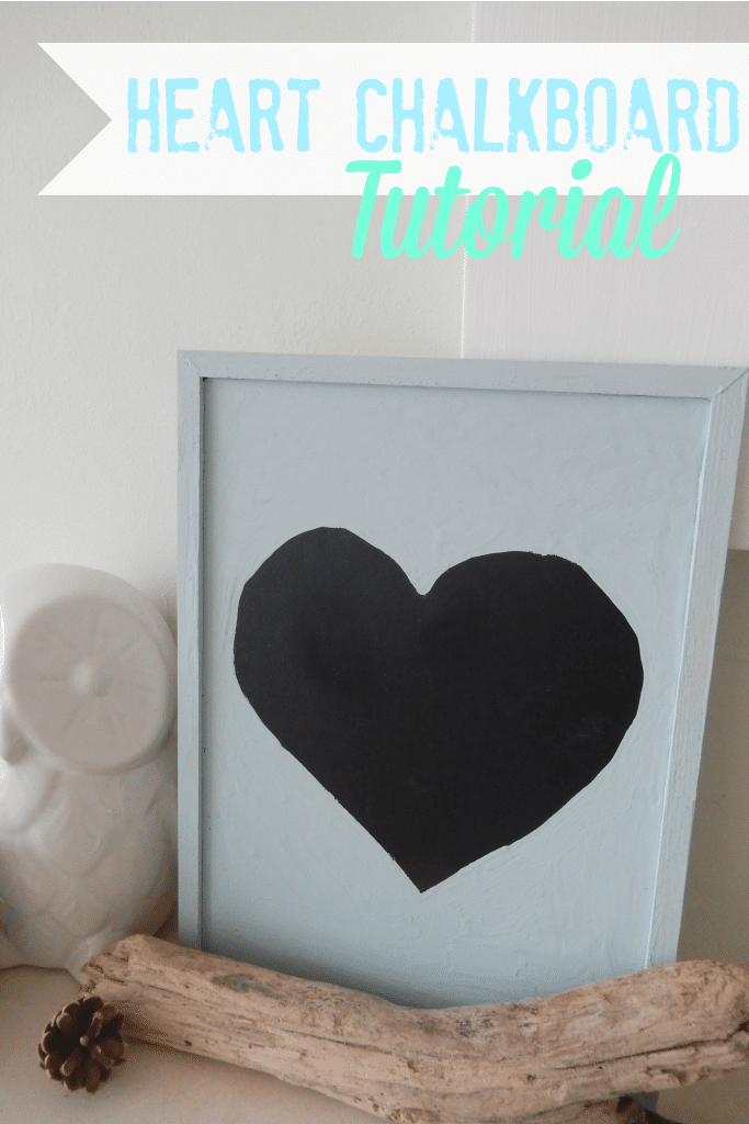 how to make a heart chalkboard tutorial