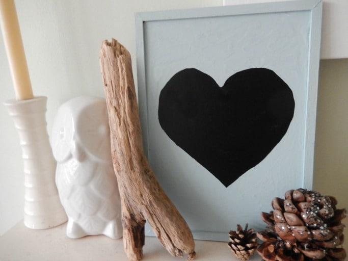 spring paint update heart chalkboard DIY