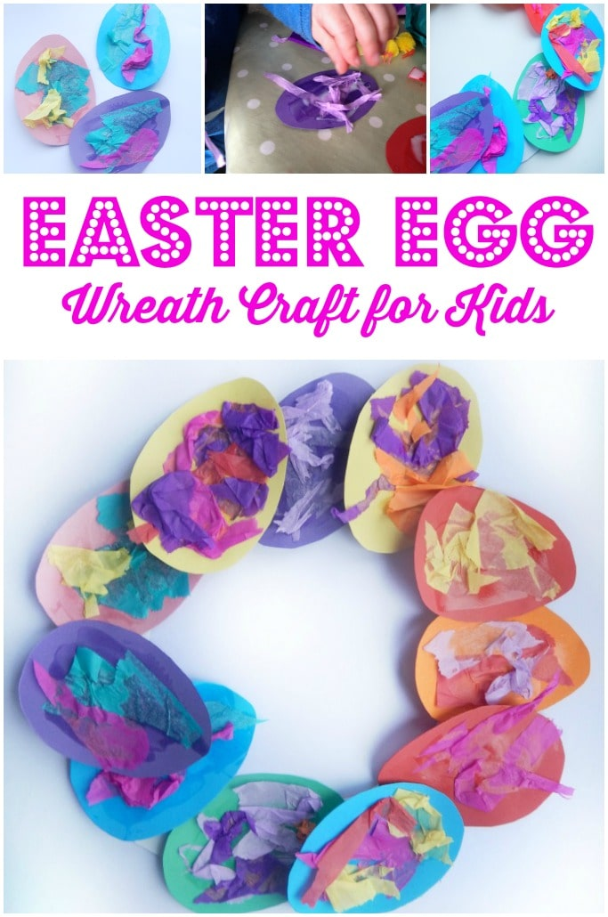 Easter Egg wreath craft for kids