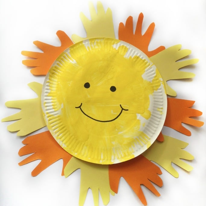 paper plate sun craft for kids