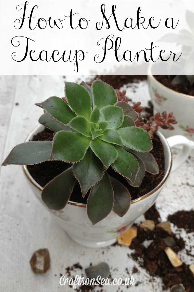 how to make a teacup planter