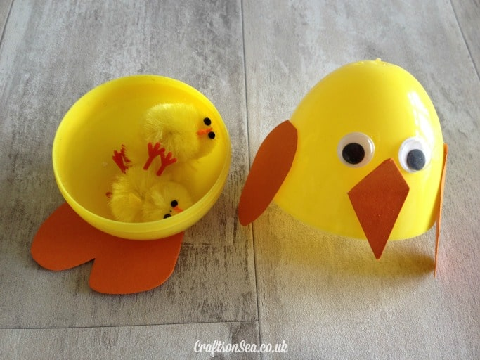 Surprise eggs easter craft idea