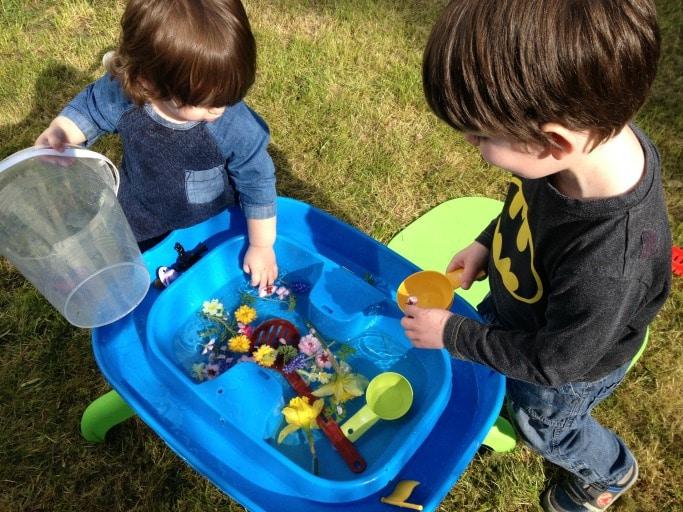 spring sensory table