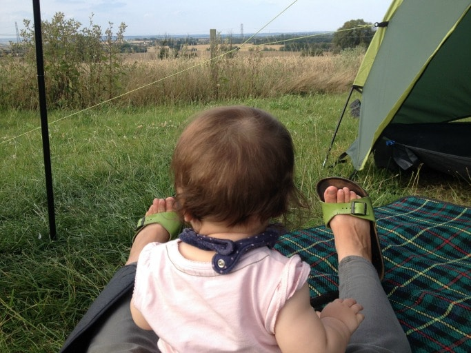 tips for camping with a baby