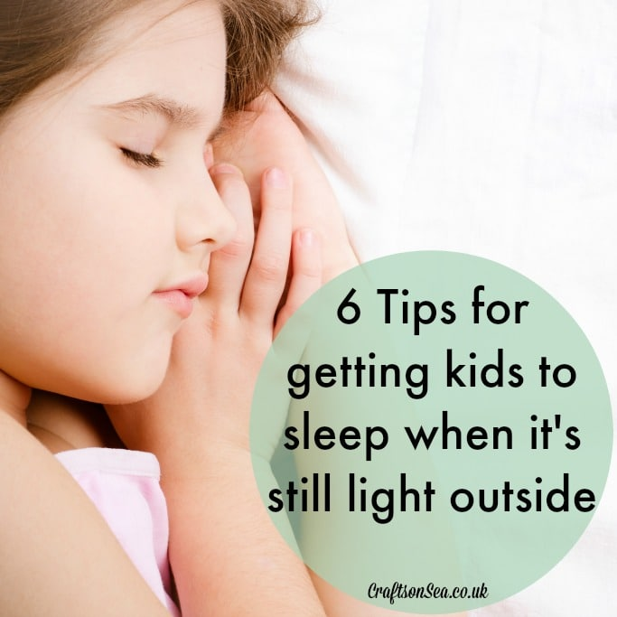 tips for getting kids to sleep in the summer