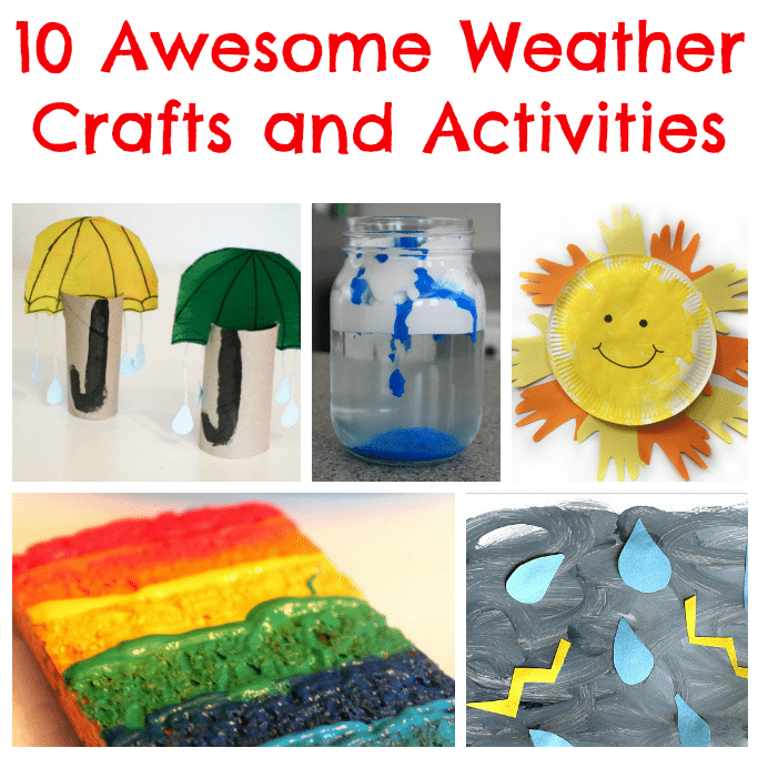 weather crafts and activities for kids