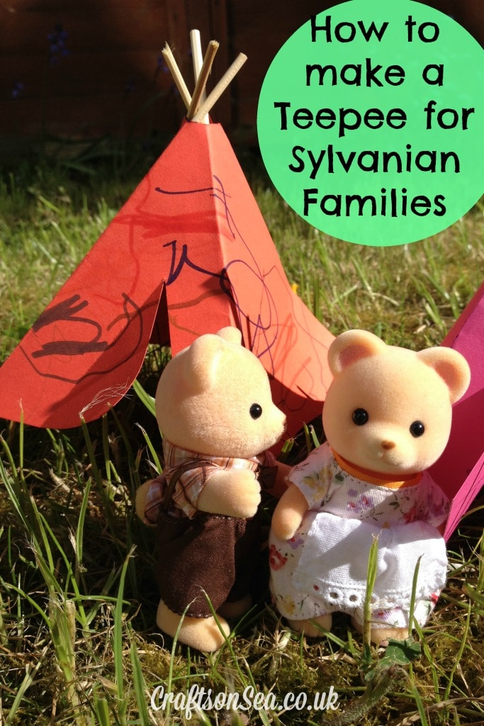 How to make a teepee for Sylvanian Families Craft with free template