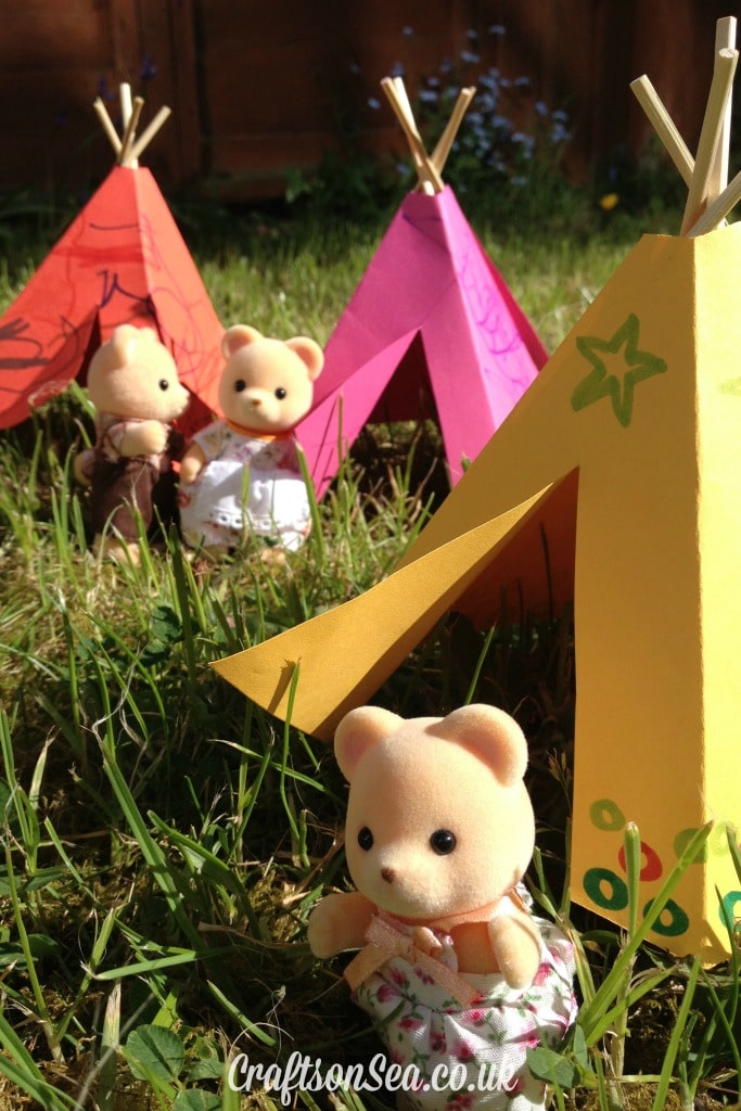 How to make a toy teepee - free template