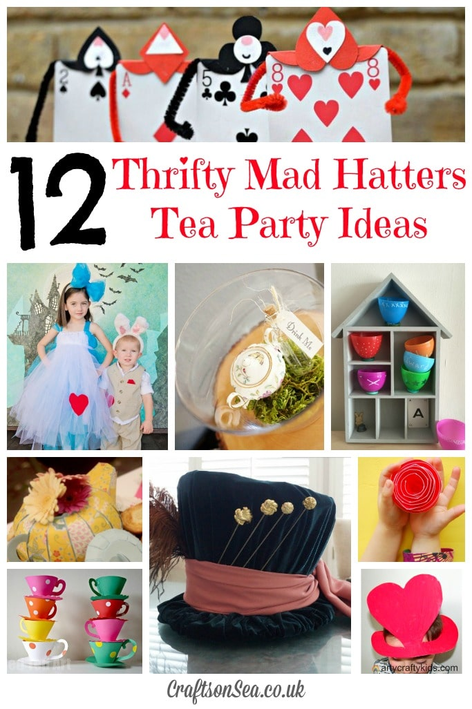 tea party craft ideas thrifty mad hatters tea ideas tuesday tutorials 5538