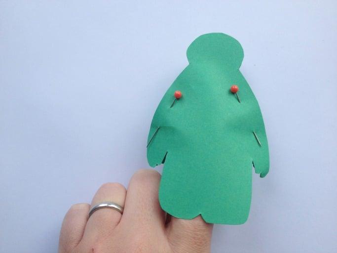 baymax finger puppet template